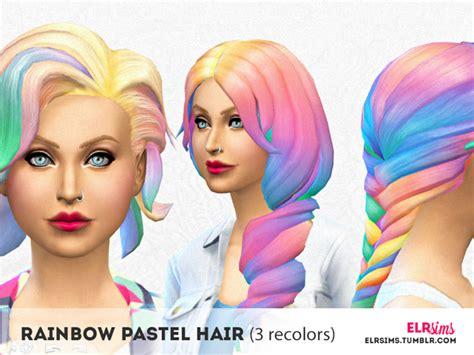 the sims 4 kids hair tsr newhairstylesformen2014com elrsims elr sims rainbow pastel hair 3 non default