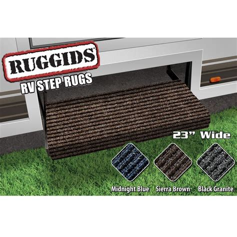 step rugs ruggids rv step rug brown 23 quot prest o fit 2 0421 step rugs cing world