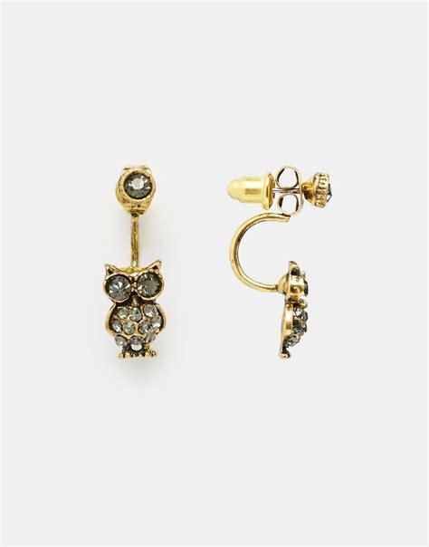 swing earrings designsix designsix owl swing earrings at asos
