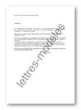Modèle et exemple de lettres type : Mise en demeure pour