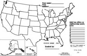 blank united states map test printable