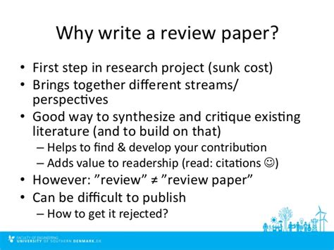 how to write a review paper how to write and publish a literature review