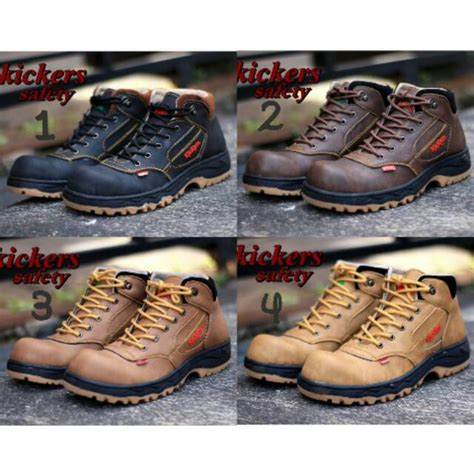 Sepatu Kickers Kulit Buck sepatu boots pria safety termurah di shopee shopee indonesia