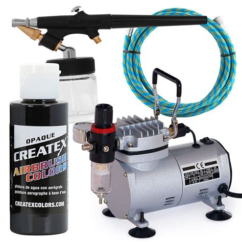 airbrush gun starter kit with compressor and black paint hobby t shirt ebay