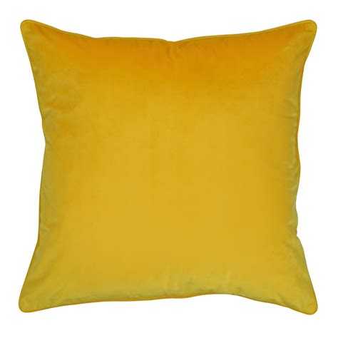 buy yellow velvet cushion cover simply cushions