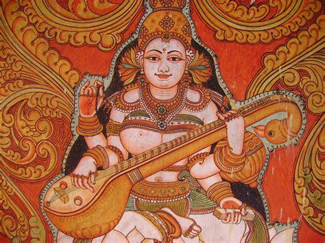 Indian Wall Murals file mural painting from kollur mookambika temple jpg