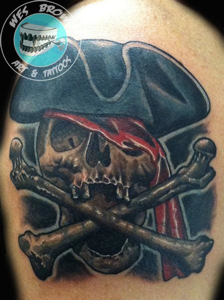 jolly rogers tattoo jolly roger by wes brown tattoonow