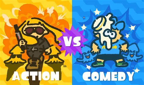 comedy vs action film action vs comedy global splatfest scheduled for january