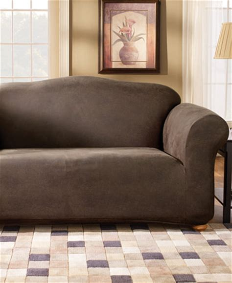 Sure Fit Stretch Faux Leather Separate Seat Loveseat Sofa Stretch Leather Sofa Slipcover