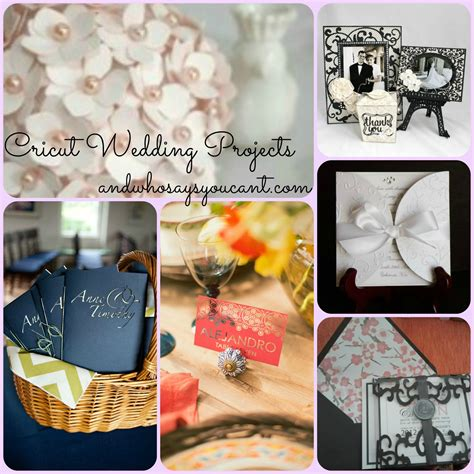 diy projects wedding and who says you can t diy wedding projects with your cricut