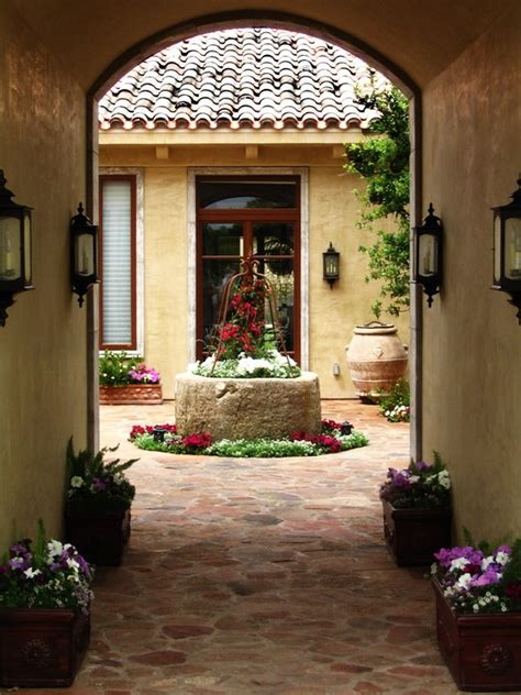 spanish courtyard designs pin by tammy brewer ward on home pinterest
