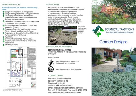 residential layout brochure botanical traditions architects designers melbourne vic