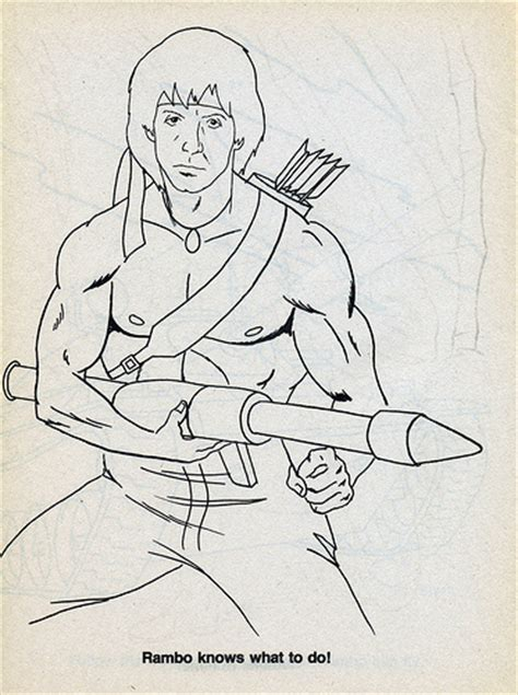 rambo coloring book for sale rambo knows what to do no rambo doesn t what to