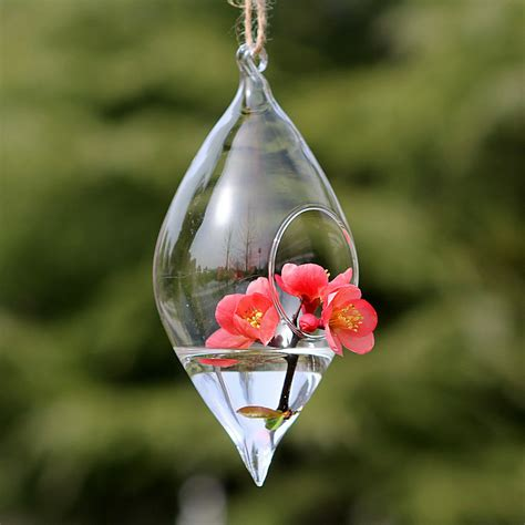 Glass Hanging Vases by Aliexpress Buy Teardrop Glass Flower Vase