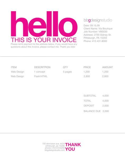 35 creative invoices designed to leave a good impression