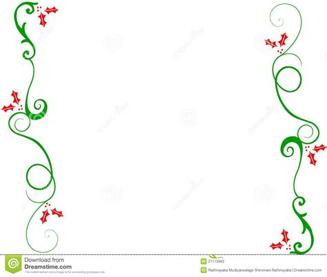decorative christmas border stock photography image