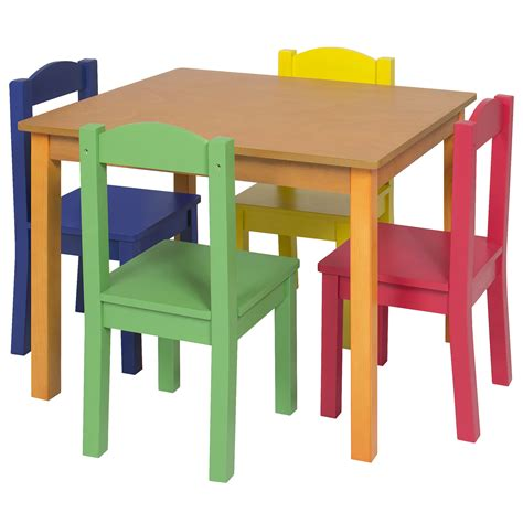 childrens table and 4 chair set wooden table and 4 chair set furniture primary