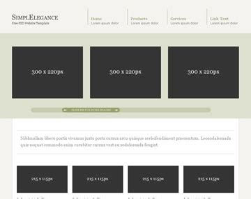 simplelegance free psd website template psd templates