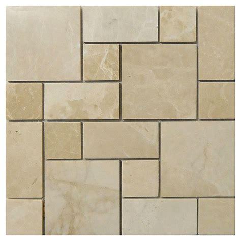 rona bathroom tiles quot crema roman quot marble tile rona