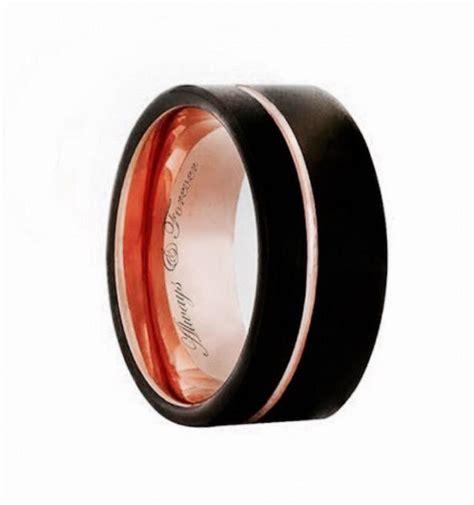 Tungsten Rose Gold, Tungsten Band, Tungsten Mens Ring