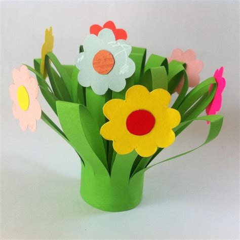pattern for paper flower pot paper flower bouquet fun family crafts