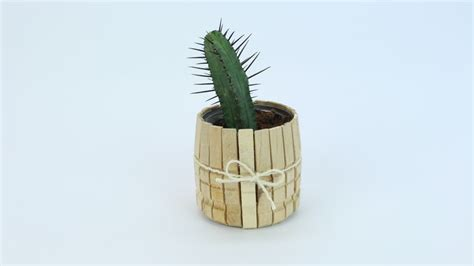 cute planters recycle simple cans into cute clothespin planters