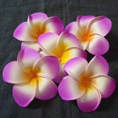 An61 Anting Topeng Hiasan Bunga Putih bunga jepun ungu 9cm