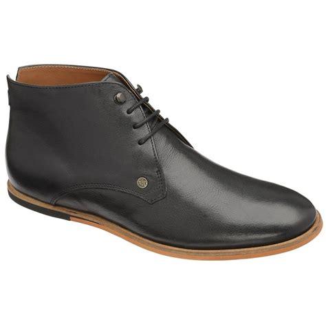 frank wright smith black leather chukka boot