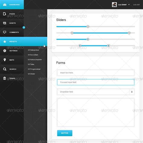 website layout vertical menu admin vertical navigation by kleverthemes graphicriver
