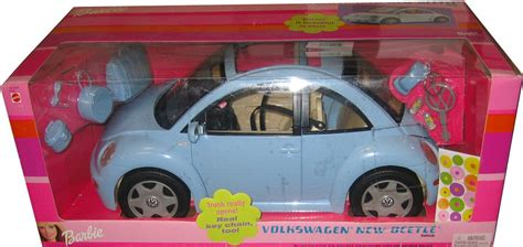 barbie volkswagen amazon com barbie volkswagen new beetle in light blue vw