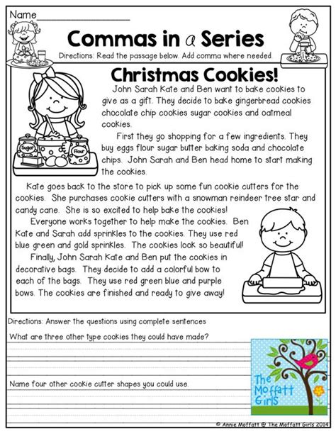 Commas In A Series Worksheets by Other Commas In A Series And 2nd Grades On