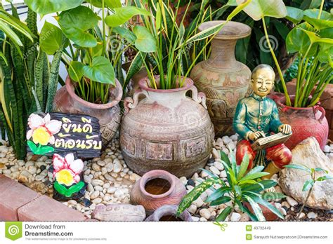 Garden Decoration On by Garden Decoration And Welcome Signs Stock Image Image