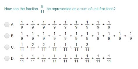 Decomposing Fractions Worksheet 4th Grade by Decompose Fractions Into Unit Fractions Quiz Turtle Diary