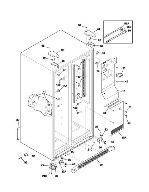 frigidaire refrigerator parts diagram cabinet diagram parts list for model plrs267zab8