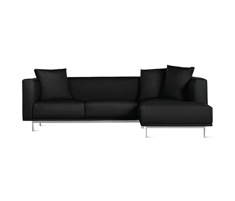 design within reach sectional bilsby sectional with chaise in leather right sofas