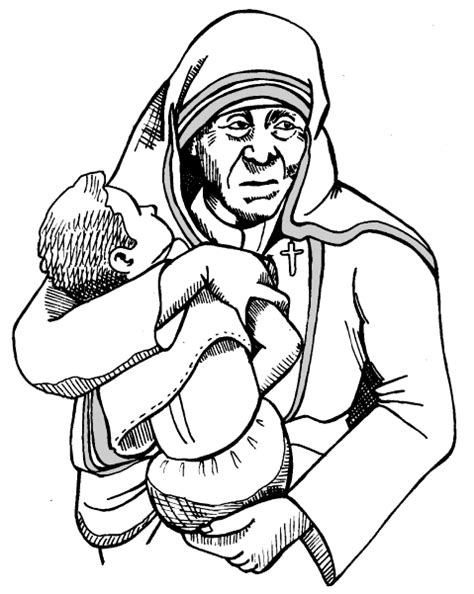 mother teresa coloring page to print coloring pages