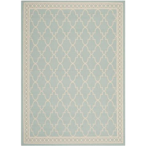 5 X 7 Indoor Outdoor Rug Safavieh Courtyard Aqua Beige 5 Ft 3 In X 7 Ft 7 In Indoor Outdoor Area Rug Cy5142 223 5