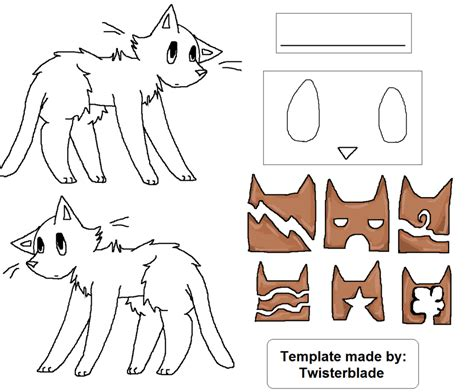 warrior cat template warrior cat template by cutiecannibal on deviantart