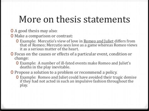 thesis statement for romeo and juliet thesis statementsrev