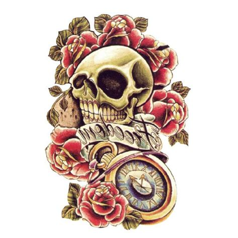 tatouage flash body tattoo homme latino skull tete de mort