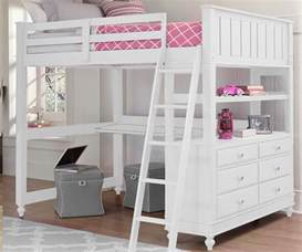 bedroom size loft bed with desk for sale white