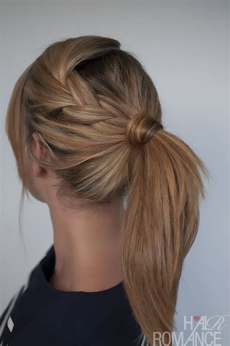 hairstyles easy braids easy braided ponytail hairstyle how to hair romance