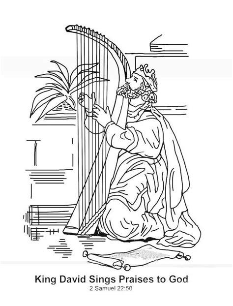 sunday school coloring pages king david king david worshiping god coloring pages google search