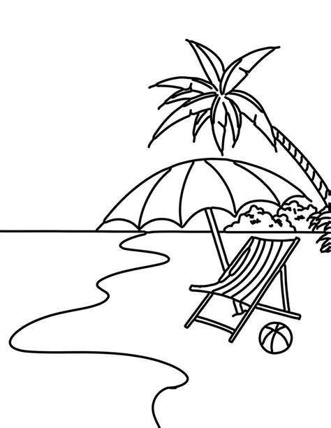 Mewarnai Pemandangan Pantai • BELAJARMEWARNAI.info