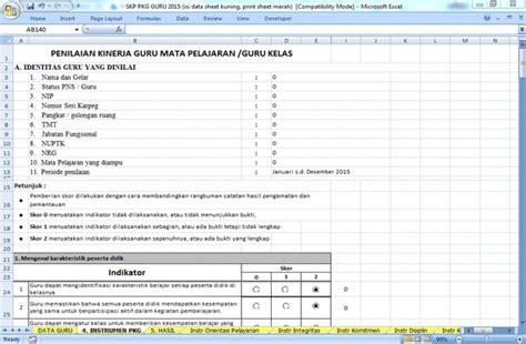 format dokumen microsoft excel adalah aplikasi skp pkg guru format microsoft excel unduh dokumen
