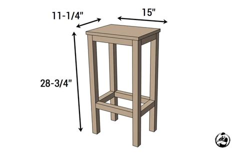 easiest bar stools   diy plans rogue engineer