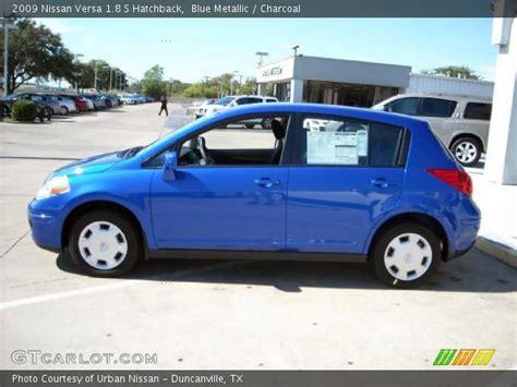 nissan versa blue 2009 blue metallic 2009 nissan versa 1 8 s hatchback
