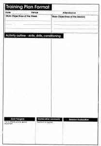 soccer session planner template