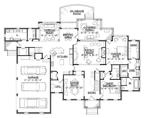 Six Bedroom House Plans by 6 Bedroom One Story House Plans Photos And