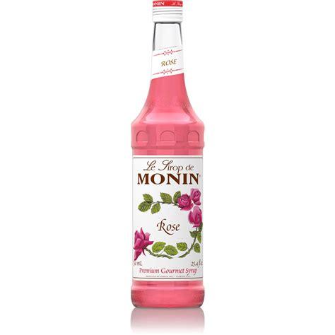 Monin Rose Syrup   750 ml Bottle: BaristaProShop.com